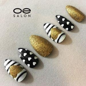 O2 Salon 5438 Fake False Nails Art (72 pcs/3 set)